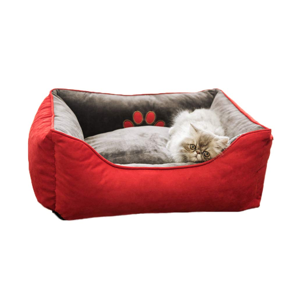 RED 551965cm RED 551965cm C_-1X Kennel, Pet Nest, Cat Litter, Warmth in All Seasons, Removable Cat Litter, Kennel Mat, Cat Room, Pet Bed, (red) (color   RED, Size   55  19  65cm)