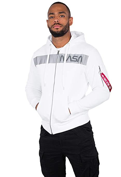 ALPHA INDUSTRIES Men Zip Hoodie NASA RS
