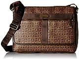 Tommy Hilfiger Darren Signature Flap Messenger Bag, Tan/Java, One Size