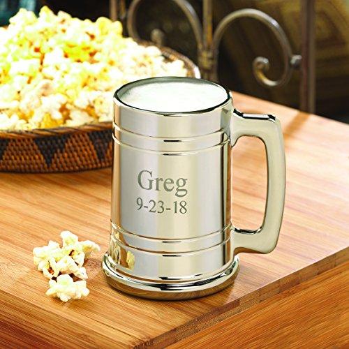 Personalized Gunmetal Beer Mug - Engraved Beer Mug - Groomsmen Beer (Character Beer Stein)
