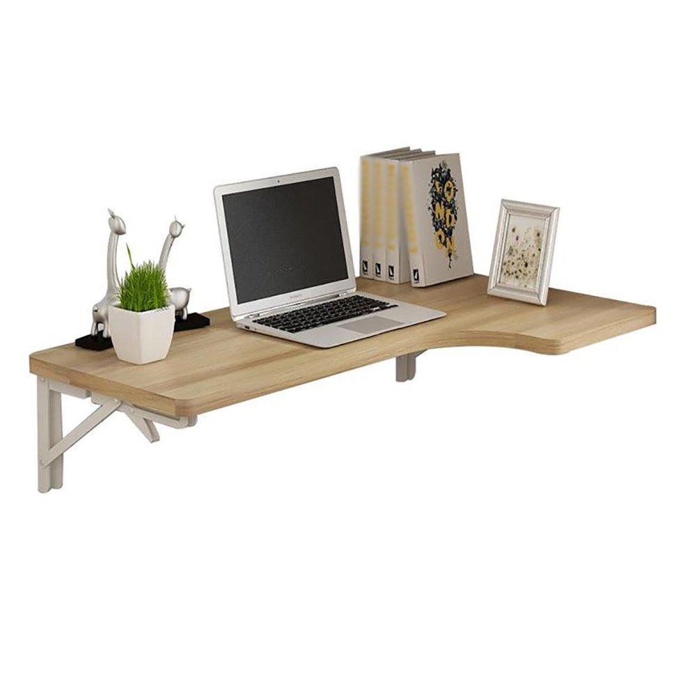LQQGXLTavolo pieghevole portatile Tavolo pieghevole a muro, tavolo da pranzo, scrivania computer ad angolo, tavolo multifunzionale, (Colore : Nero, dimensioni : 80*60*40cm)