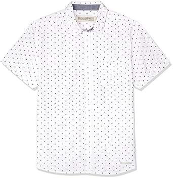 Hammersmith Men's Linden Short Sleeve Shirt, White, 7X-Large