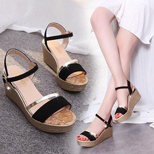 Shoes Byste Sandals Simple Black Fish Sandals Platform Shook Women Sandals Summer Head Muffin vdqqRC