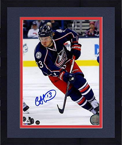 Framed Cam Atkinson Signed Columbus Blue Jackets 8x10 Photo - Steiner Sports Certified - Autographed NHL Photos
