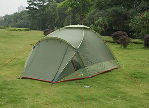 PALMBEACH 4 Season Camping Tent – Waterproof All Weather Tent, Family Tent, Portable 2 to 3 Person Expedition Tent, Double Layer Tent, Hiking, Backpacking, Trekking, Mountaineering