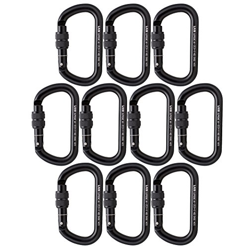 Fusion Climb Supreme II Screw Gate Oval Shape Carabiner 10-Pack by Fusion Climb