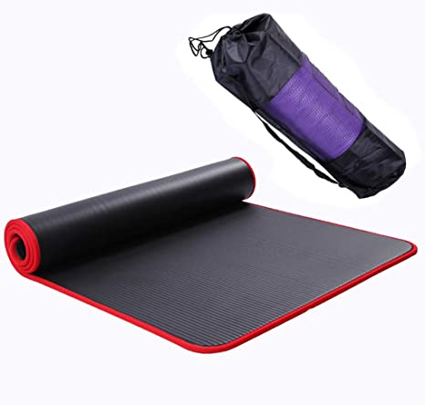 Amazon.com : MBEN Extra Thick Yoga mat 1 cm Exercise mat ...