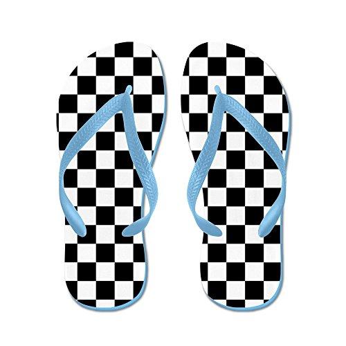 Cafepress Rutig Flagga - Flip Flops, Roliga Rem Sandaler, Strand Sandaler Caribbean Blue