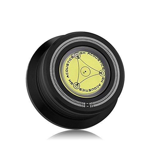 nobsound 3-in-160Hz Record Peso Turntable Clamp LP Estabilizador de disco de vinilo estroboscopio Gradienter (Negro)