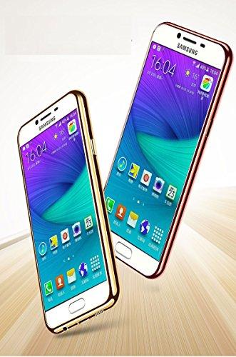 Samsung galaxy C5 Funda, Samsung galaxy C7 Funda, Samsung galaxy S7 Funda, Samsung galaxy S7 edge Funda,Transparente Funda Protectiva Carcasa de Silicona Gel TPU estrecha Case Cover (ZG-05) A