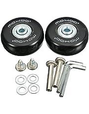 Kofferrollen MOHOO 50x18mm ersatzrollen Gummi Rollen Räder ein Paar mute ersatz Wheels für Gepäck-Koffer