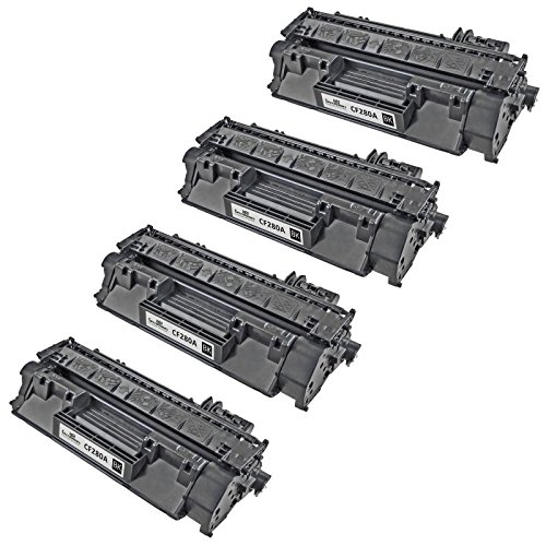 Speedy Inks - 4 Pack Compatible Replacement for HP 80A CF280A Black Laser Toner Cartridge for use in LaserJet Pro 400 M401dn, M401dne, M401dw, M401n, M425dn (Laserjet Printer Cartridge 80a)