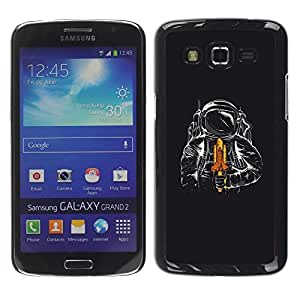 LECELL -- Funda protectora / Cubierta / Piel For Samsung Galaxy Grand 2 SM-G7102 SM-G7105 -- Space Shuttle Astronaut --