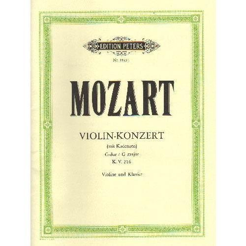 Mozart, W.A. - Concerto No. 3 in G Major, K. 216 - Violin and Piano - by Carl Flesch - Peters