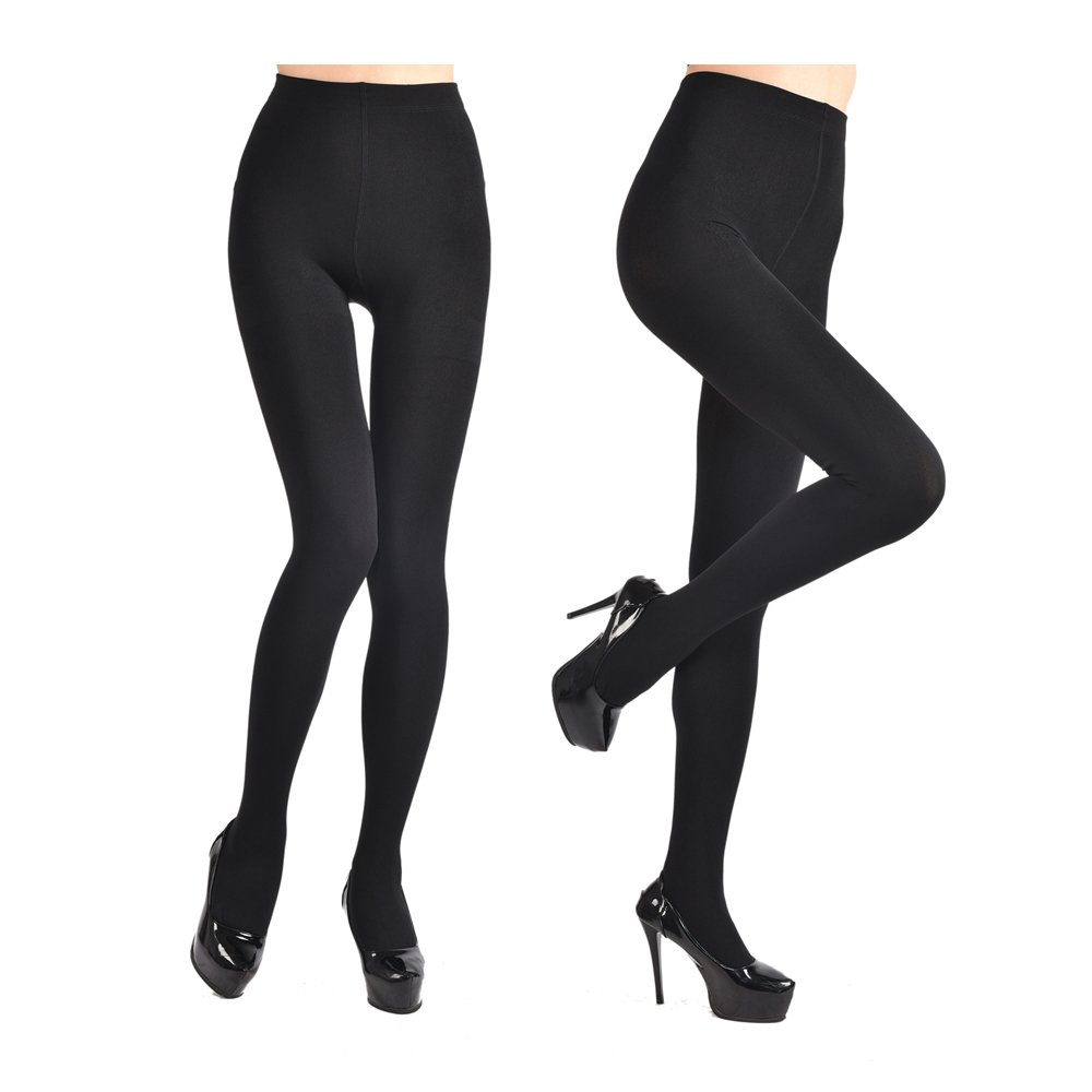 4c9d621c1f30c Fleece Lined Tights for Women Ladies 2Pairs Winter Warm Pants 3Colors  Elstic High Waist Velvet Tights at Amazon Women's Clothing store: