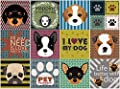 BRIKETO Pets Decorative Tile Stickers Set 12 Units 6x6 inches. Peel & Stick Adhesive Tile Stickers. Home Decor. Furniture Decor. Wall Decor. Backsplash Tile Stickers.