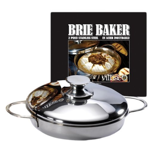 Gourmet Du Village Brie & Camembert Cheese Baker, Stainless Steel for the Barbecue or Oven!
