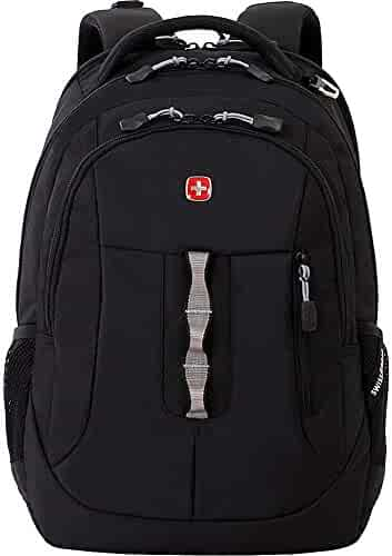 Swiss Gear SA5965 Laptop Computer Tablet Notebook Backpack - for School, Travel, Carry On Luggage, Women, Men, Student, Professional Use - Black, 19 Inches