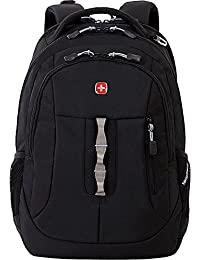 SA5965 Laptop Computer Tablet Notebook Backpack - for School, Travel, Carry On Luggage, Women, Men, Student, Professional Use - Black, 19 Inches