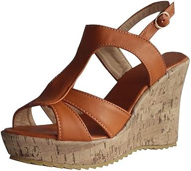 Chaussures Femme Ete Petit Talon CompenséEs Confortable Pas