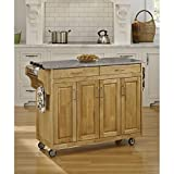 kitchen cabinets bar island Home Styles 9200-1013 Create-a-Cart 9200 Series Cabinet Kitchen Cart with Gray Granite Top, Natural Finish