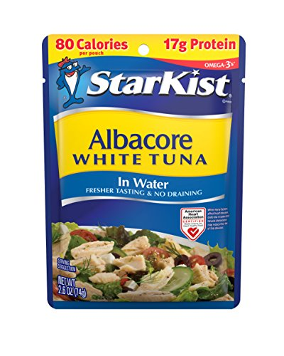 StarKist White Albacore Tuna Pouch in Water, 2.6 Ounce (Pack of 24) (Starkist Albacore)