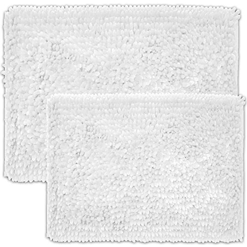 Chicago Butter Chenille 2 Piece Bathroom Rug Set color white by Estex