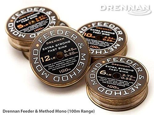 Drennan Fast Sink Feeder and Method Mono Line 100m
