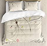 Best Greenland Home Home Fashion Pinks - Dragonfly Duvet Cover Set Spring Field Bouquet Shab Review