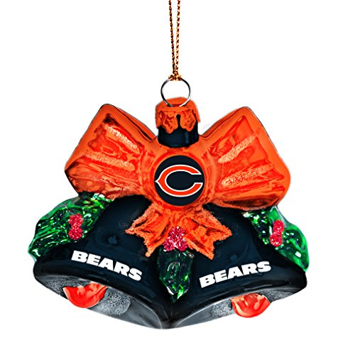 NFL Chicago Bears Glitter Bells Christmas Tree Ornament