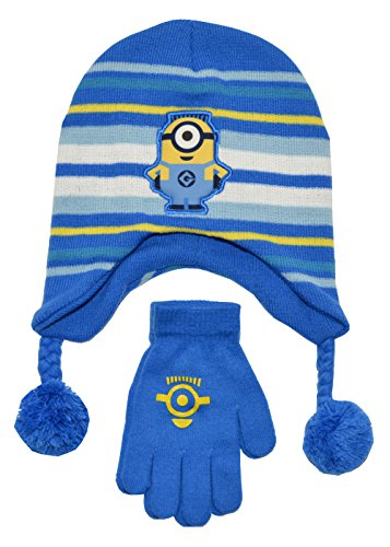 [Despicable Me One Minion Hat And Glove Set (OS, Blue)] (Despicable Me Minion Hats)