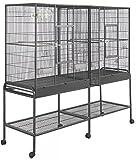 Double Wide Cage for Sugar Gliders, Chinchillas, Squirrels, Ferrets