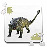 Boehm Graphics Dinosaur - Euoplocephalus Dinosaur Defending - 10x10 Inch Puzzle (pzl_220929_2)