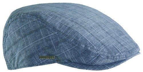 Hat Cap Windowpane (Stetson Men's Window Pane Duckbill Ivy Cap,Blue,L)