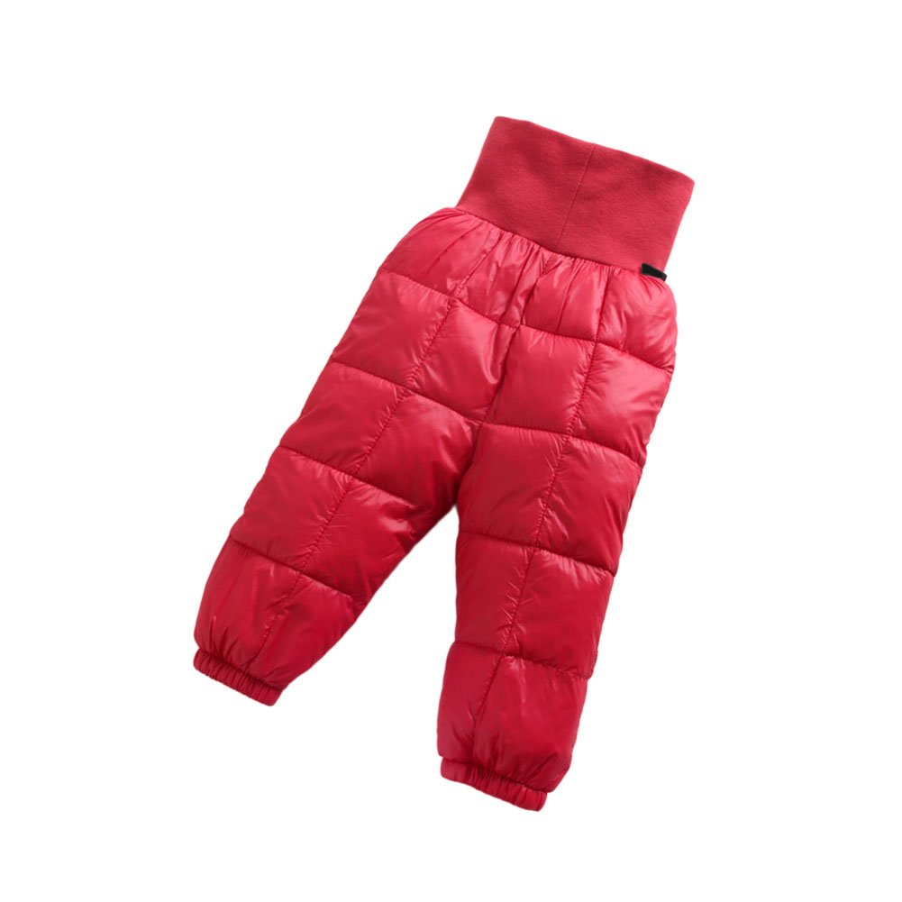 Haodasi Winter Newborn Infant Baby Girls' Boy' Down Trousers Keep Warm High Waist Pants Children's Pant for 0-24 Months