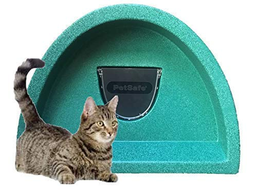 Outdoor cat kennel//shelter with flap Green Cosy Cages Ltd Summer Sale