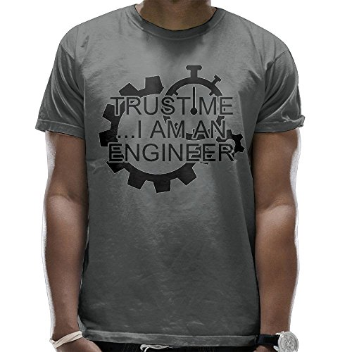 Engineer Short Sleeve T-shirt (5SDp Shirts Trust Me I'm An Engineer Mens Sport T-Shirt Round Neck Short Sleeve Tee)