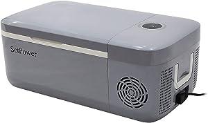 Setpower FC12 12.7 Quarts Portable Freezer Fridge 12V Cooler, 0℉-50℉, DC 12/24V, Car Fridge Compact Refrigerator, for Truck, Van, RV Road Trip, Outdoor, Camping, Picnic, BBQ