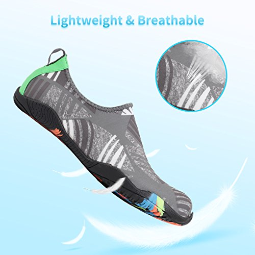 Shoes Beach Z Swim Dry Aqua Gray Shoes Men Quick Leaf for Heeta Socks Swim Women thick Water Barefoot Sports 7ESqSB