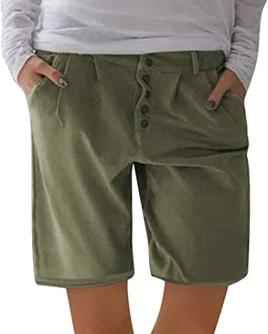 Womens shorts Knee Length Chino Plus Size Trousers cycling shorts Casual Cargo