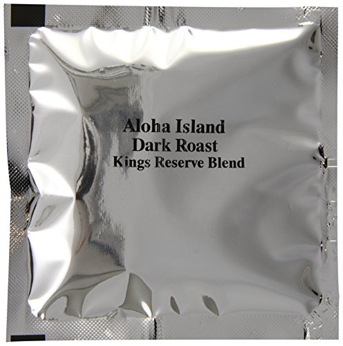 Aloha Island Kona Smooth Dark Roast Kings Reserve Hawaiian Blend Coffee Pods, 36 - 8Grams Coffee Pods