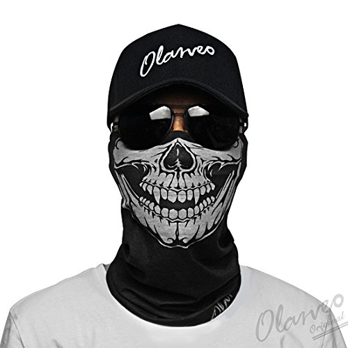 Tube Skull Face Mask half Dust-proof Windproof Motorcycle Bicycle Bike Face Mask for Hiking Camping Climbing Fishing Hunting Motorcycling Headband Scarf Headwrap Neckwarmer ()