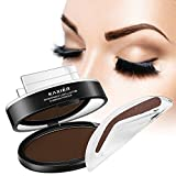 Best Eyebrow Stamp for Perfect Eyebrow, 1 set Pro 3 In 1 Palette for natural looking,Waterproof Long Lasting, Enhance your eyebrow in seconds, all natural color (Dark Brown)