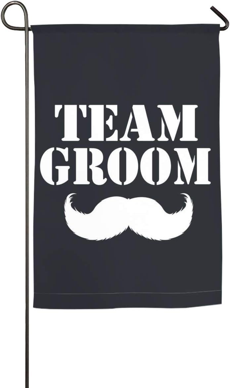 SHARP-Q Team Groom Garden Flag Holiday Celebrate Garden Decor Flag 12