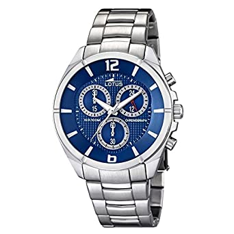 Lotus stainless steel watch blue dial 10123/2