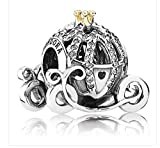 DISNEY Exclusive Cinderella Pumpkin Coach PANDORA Charm 14K Gold~Authentic~NEW in box