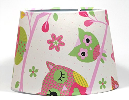 Owl lampshade or ceiling light shade lamp shade pendant girls owl lampshade or ceiling light shade lamp shade pendant girls childrens kids pink nursery bedroom room playroom 95 dual purpose amazon lighting mozeypictures Gallery