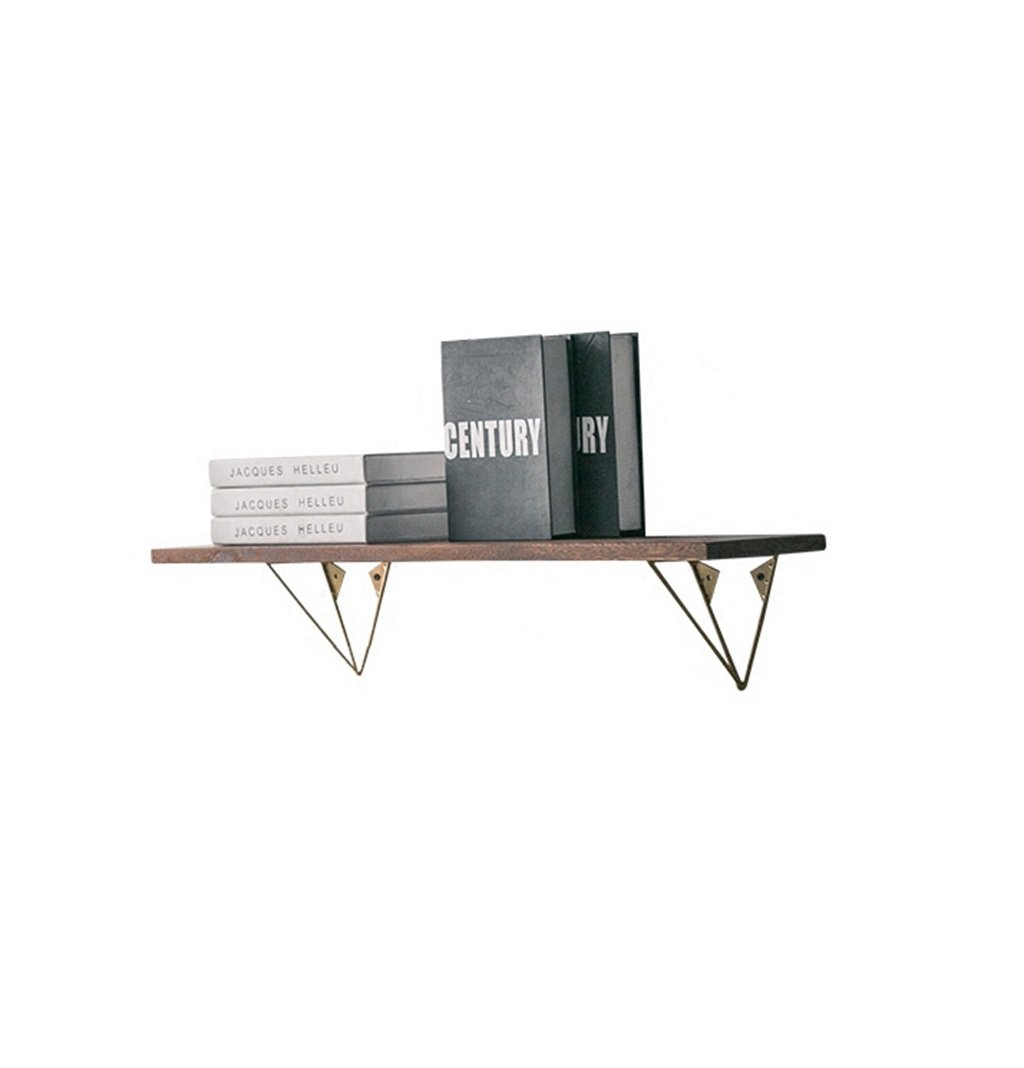 YD Shelf LOFT Wood Wall Hanging Cube Shelf For Bedroom Clapboard Bookshelf Storage Rack Northern Retro Wall Shelf Metal Iron Floating Unit Frame Vintage Industrial Style @ (Size : 60cm20cm2cm)