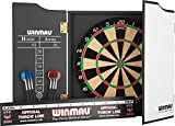 Winmau Rebel Dart Package/Set - Rebel Dartboard - Cabinet - Darts - Oche