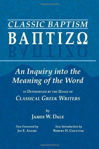 Baptizo: The Meaning of Baptism: Classic Baptism (v. 1) by Bolchazy-Carducci Publishers